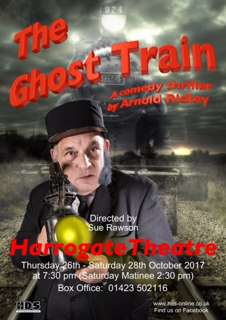 The Ghost Train, theatre, harrogate, comedy, thriller, Yorkshire, amateur dramatics