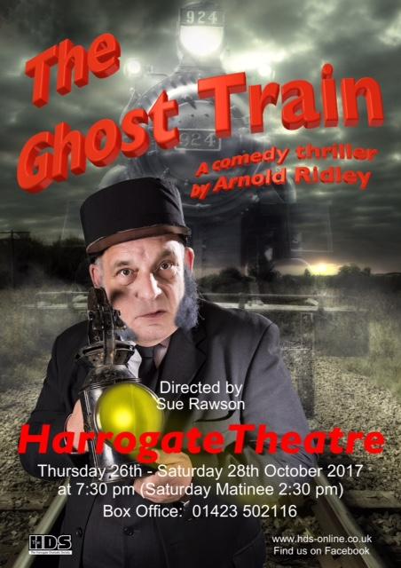 The Ghost Train, theatre, harrogate, comedy, thriller, Yorkshire, amateur dramatics